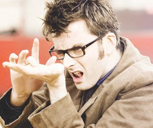 david tennant, doctor who, and glasses image