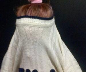 auburn, brown hair, and Fila image