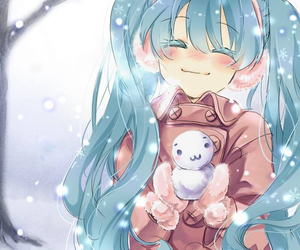 anime, snow, and vocaloid image