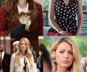 blair and serena, blake lively, and gossip girl image