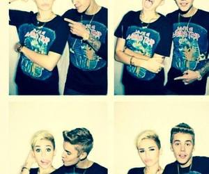 miley cyrus, justin bieber, and miley image