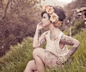 girl, ink, and nature image