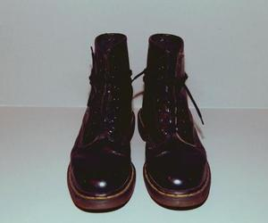 black, boots, and dr. martens image
