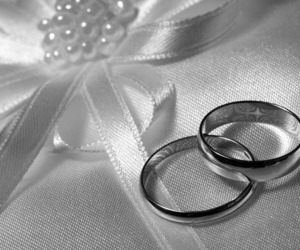 black and white, bride, and forever image