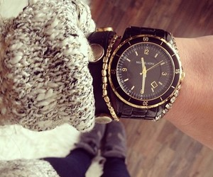 watch, black, and Michael Kors image
