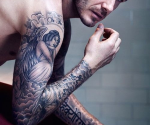 David Beckham and david beckham tattoo image