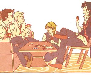 marauders, james potter, and harry potter image