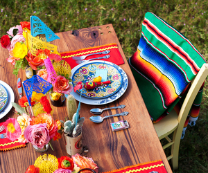 mexican, party, and table image
