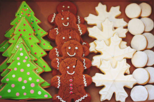 snowflake, gingerbread, and tree image