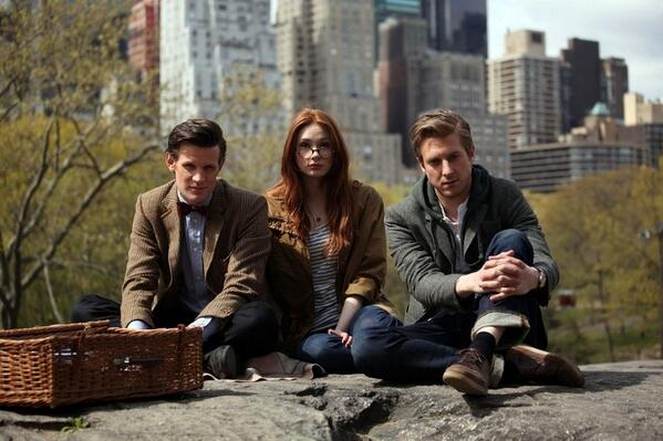 doctor who, matt smith, and rory williams image