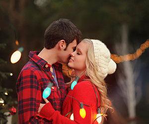 christmas, couple, and cute image