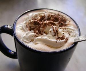 coffee, cream, and sweet image