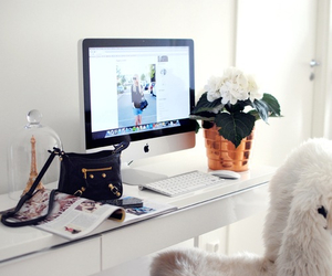 bedroom, work, and decor image