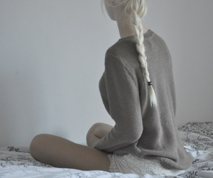 bed, clothes, and sweater image