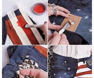 shorts, diy, and usa image
