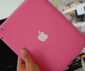 apple, girly, and pink image