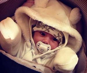 adorable, baby, and christmas image