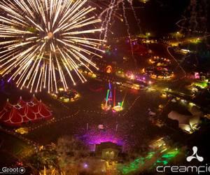 fiesta, night, and creamfields image