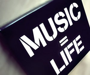 music, life, and text image