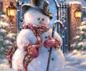 christmas, snowman, and gif image