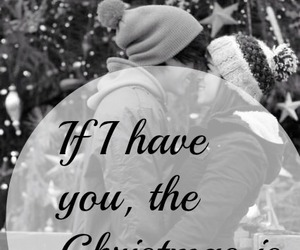 christmas, couple, and snow image