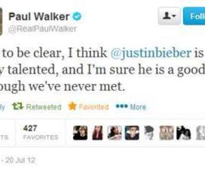 paul walker and justin bieber image