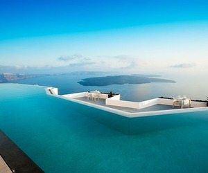 pool, summer, and Greece image