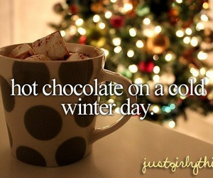 winter, christmas, and hot ​chocolate image