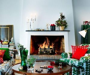 christmas, flowers, and decoration image