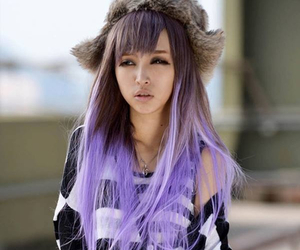 colored hair, dyed hair, and hair image