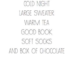 book, chocolate, and tea image