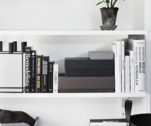 books, decor, and home image
