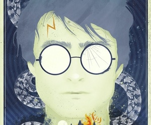 art, poster, and harry potter image