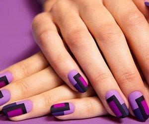nails, purple, and nail art image