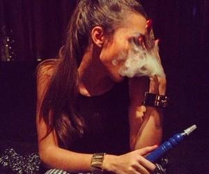 enjoy, girl, and smoke image