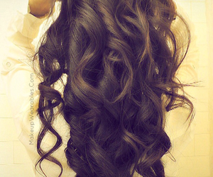 brunette, long, and curly image