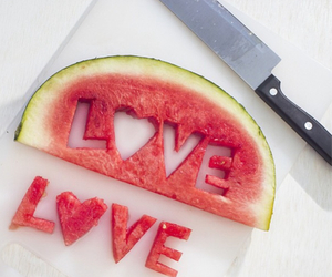love, food, and fruit image