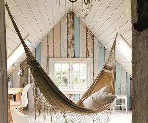 home, room, and hammock image