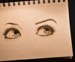 Augen, eyes, and drawed eyes image