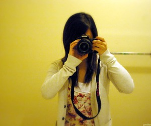 camera, girl, and dslr image