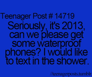 teenager post, text, and shower image