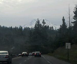 driving, volcano, and mountain image