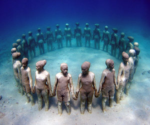 underwater, sculpture, and ocean image