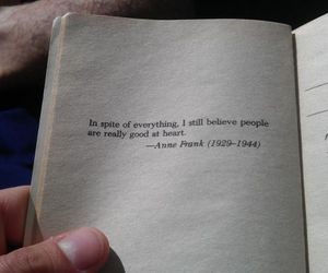 anne frank, book, and heart image