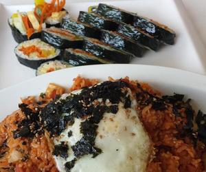 kimbap, korean food, and bibimbap image