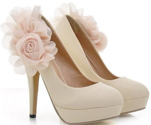 flower, high heels, and lovely image