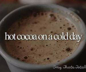 quote, cocoa, and cold image