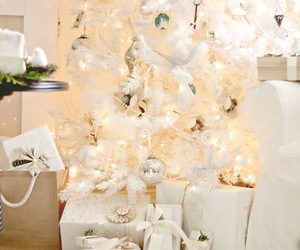 christmas lights, christmas tree, and christmas decoration image