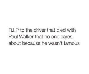 paul walker, rip, and driver image