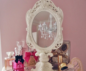 bedroom, makeup, and mirror image